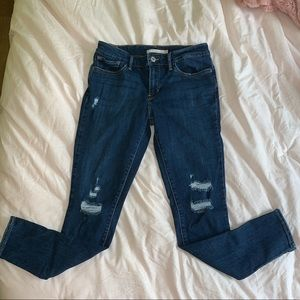 Levi's 711 skinny distressed jeans sz 28x30